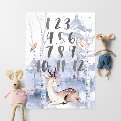lasek i zwierzęta- plakat dla dzieci