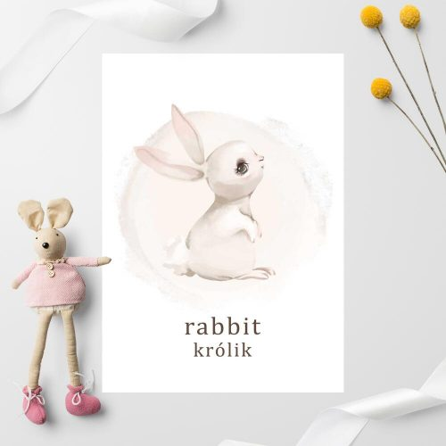 Plakat dla chłopca - Rabbit