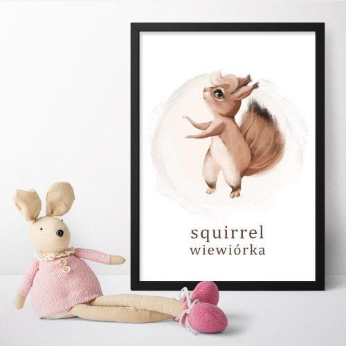 Plakat do przedszkola - Wiewiórka