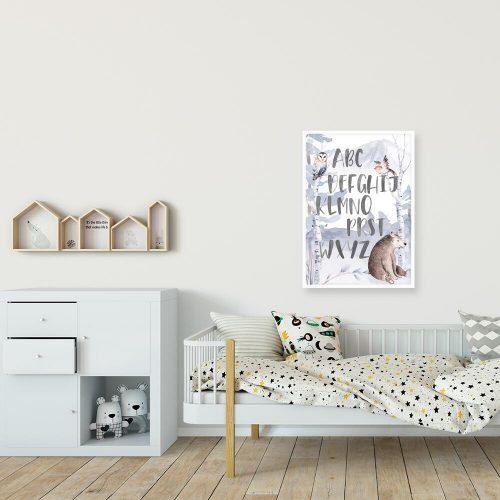 wesołe leśne zwierzęta na plakacie dla dzieci