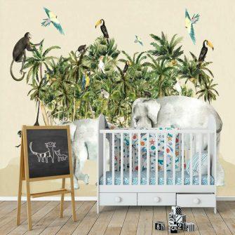fototapeta dla dzieci- wesoła dżungla