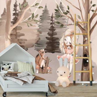 Fototapeta dziecięca przedstawiająca las
