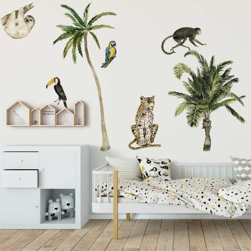 Naklejki tropikalne do pokoju dziecka