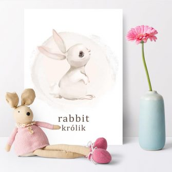 Plakat do przedszkola - Rabbit