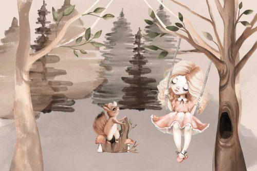 Fototapeta dziecięca z lasem