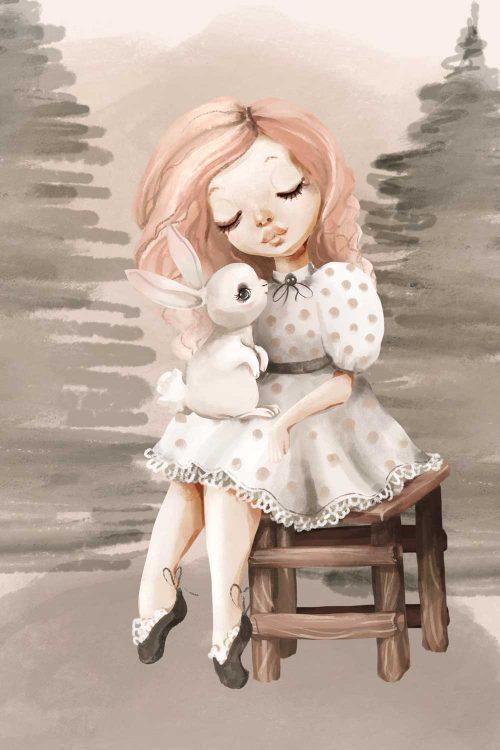 Obraz do pokoju dziecka z króliczkiem