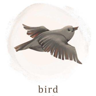 Plakat do pokoju dziecka z ptakiem