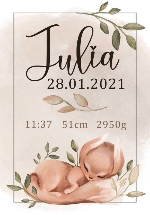 Plakat presonalizowany z imieniem dziecka