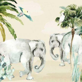 dekoracje dla dzieci- fototapeta ze słoniem