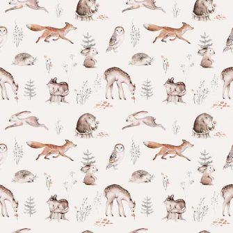 Foto-tapeta - Leśne zwierzęta