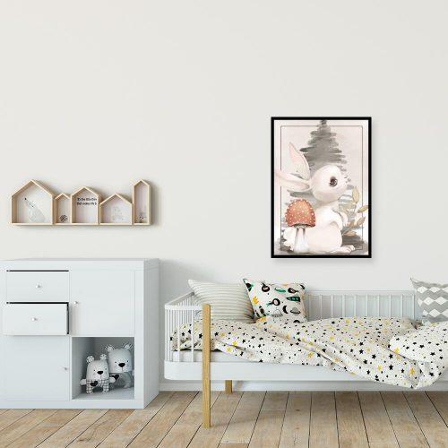Plakat z królikiem dla dzieci