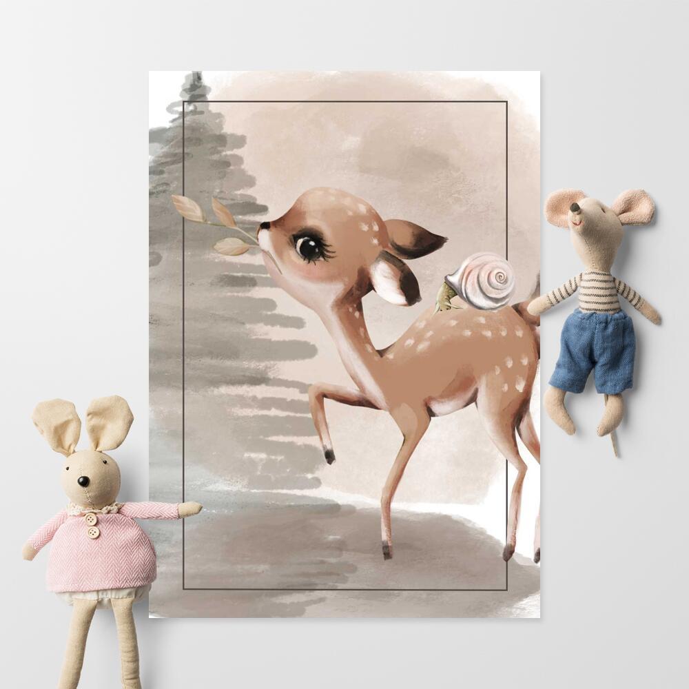 Plakaty dziecięce leśne
