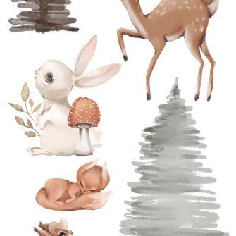 Naklejki dla chłopca - Motyw leśny