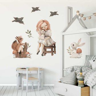 Zestaw naklejek dla dzieci z motywem zwierząt