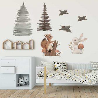 Zestaw naklejek dla dzieci ze zwierzętami leśnymi