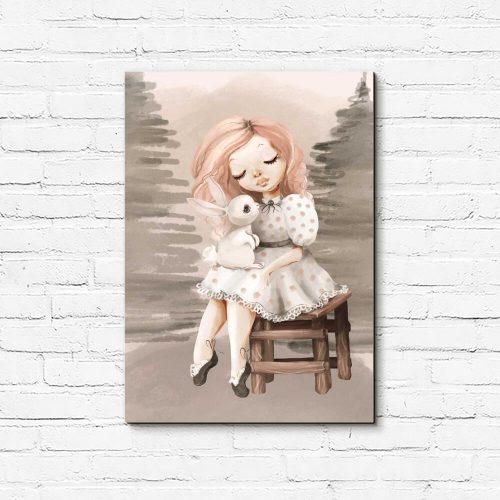 Obraz dla dziewczynki z króliczkiem