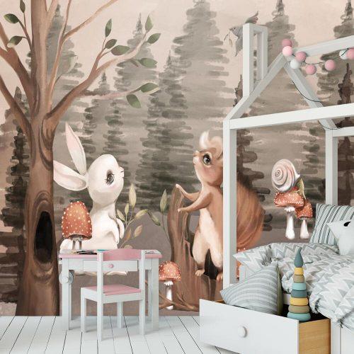 Foto-tapeta z muchomorkami do pokoiku dziecięcego