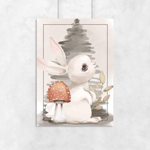 Plakat z królikiem do pokoju dziecka