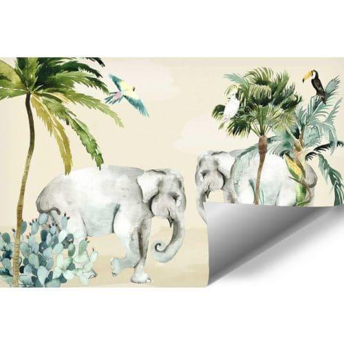 egzotyczne rośliny na fototapecie dla dzieci