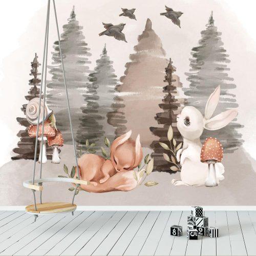 Fototapeta boho do pokoju dziewczynki - Zwierzęta