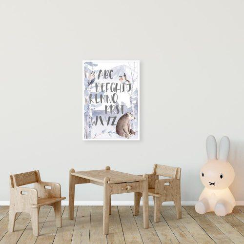 edukacyjny plakat z alfabetem