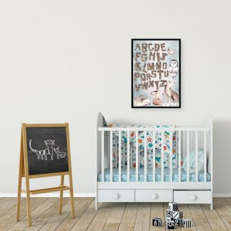 Plakat z alfabetem dla dzieci