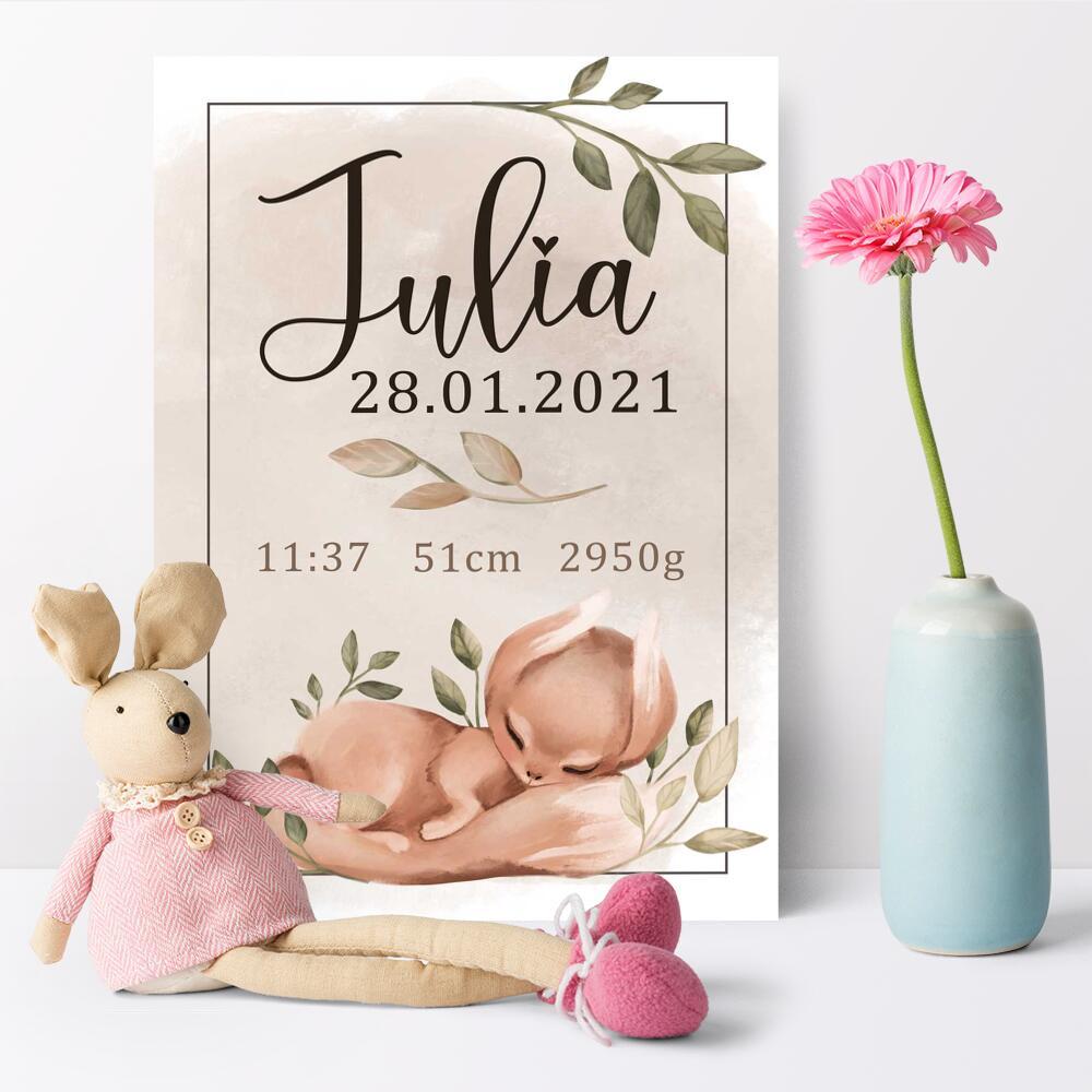 Beżowe dekoracje do pokoju dziecka