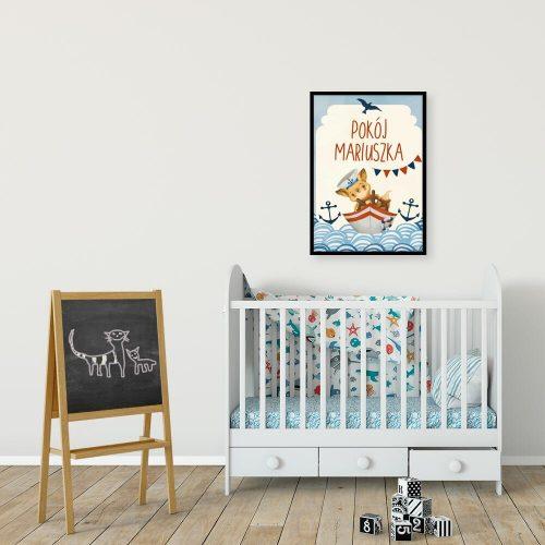 Plakat na drzwi z imieniem do pokoju dziecięcego