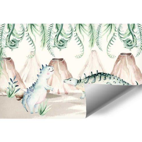 Fototapeta pastelowa - z Dinozaurami