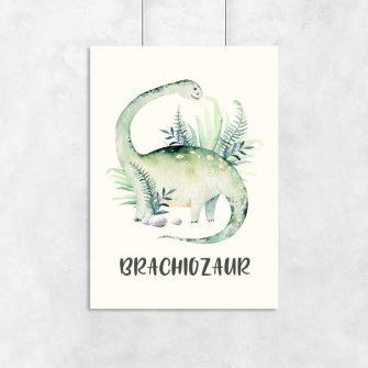 Plakat z motywem dinozaura