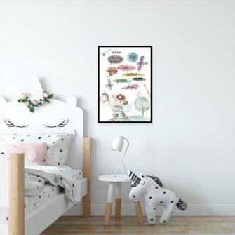 Plakat do pokoju dziecka - Nauka kolorów
