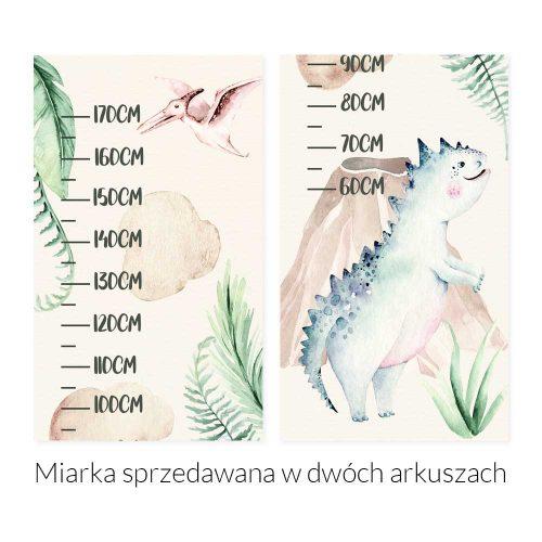 Miarka wzrostu dla chłopca - Dinozaury