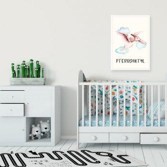 Plakat dla przedszkolaka - Pterodaktyl