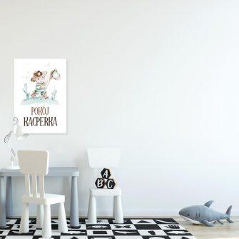 Imienny plakat dziecięcy na drzwi - Szeryf