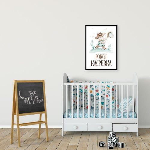 Szeryf - Dedykowany plakat na drzwi do pokoju dziecięcego