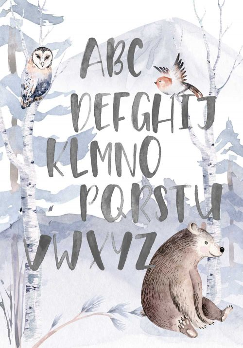 Plakat - Nauka alfabetu