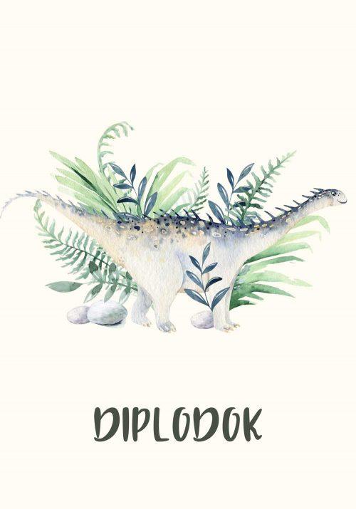 Plakat dla dzieci - Diplodok