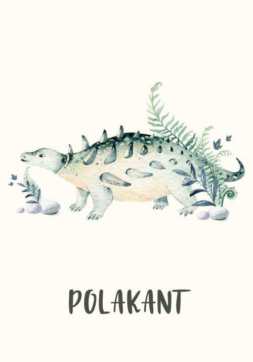 Dziecięcy plakat z motywem prehistorycznej roślinności