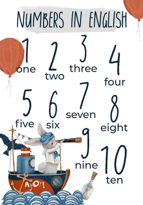 Plakat dla dzieci - Statek