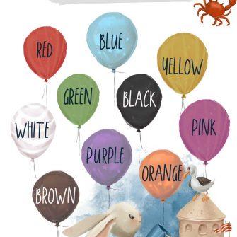 Nazwy kolorów - Plakat do przedszkola