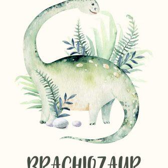 Plakat z Brachiozaurem