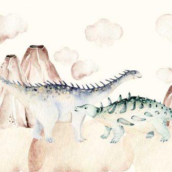 Bajkowa Tapeta w Dinozaury