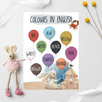 Dydaktyczny plakat dla przedszkolaka - Kolory