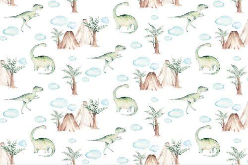 Zielone dinozaury - Fototapeta dla chłopców