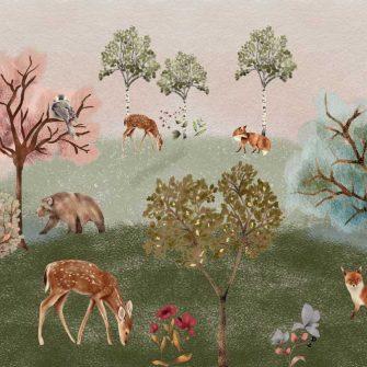 Dziecięca fototapeta - Zwierzątka z lasu
