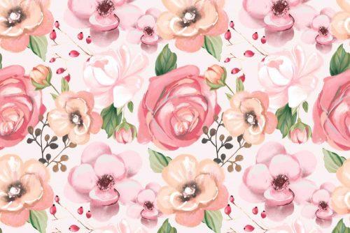 Różowa fototapeta dla nastolatki