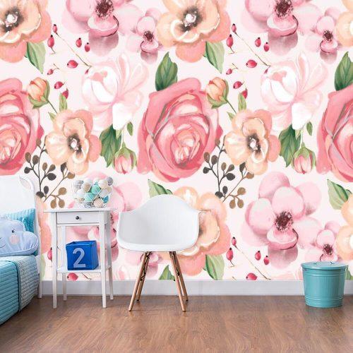 Różowa fototapeta do sypialni