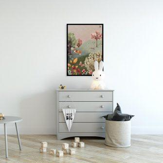 Kolorowy plakat dla dzieci - Kwiecista łąka