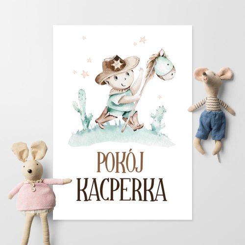 Imienny plakat do pokoju dziecięcego - Szeryf