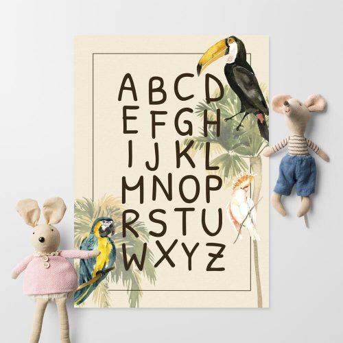 udekoruj dziecięcy pokój plakatem z motywem ptaków z dalekich krain